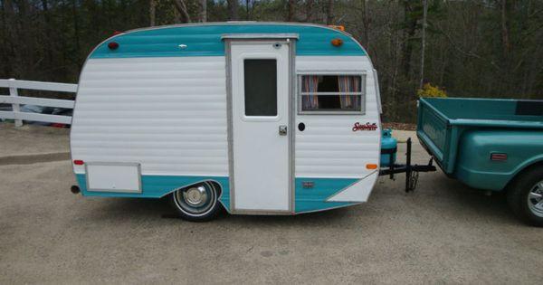 Vintage retro scotty sportsman camper trailer canned ham for Ebay motors car trailers