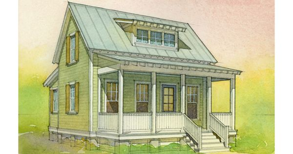 697 sq ft bungalow by eric moser guest cottage for Eric moser farmhouse plans