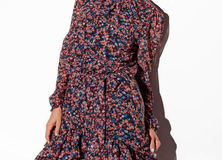 Wzorzysta Asymetryczna Sukienka Boho Z Falbanami I Jedwabiem Kobieta Odziez Sukienki Sukienki Shop Casual Dress Dresses Fashion