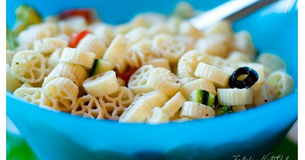 Wheel shaped pasta salad for a truck party. Cute idea!