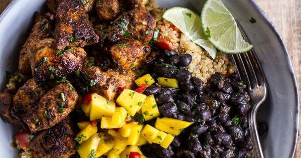 Cuban chicken and black bean quinoa bowls cuban chicken for Azafran cuban cuisine