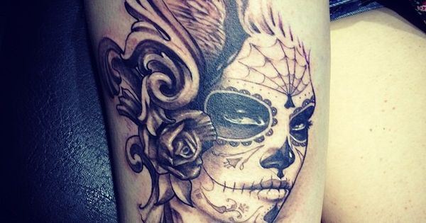 Sugar Skull Girl Tattoo tattooforgirls tattooforwomen ink
