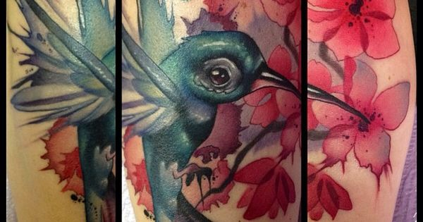 Tattoo by Kelly Doty-love this hummingbird tattoo by Kelly Doty her work
