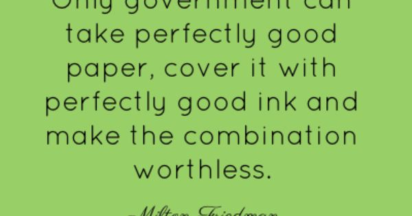 Milton Friedman Quotes Brainyquote Quotes Quotable Quotes Quotations