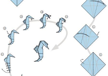 seahorseorigami1 origami pinterest papperspyssel