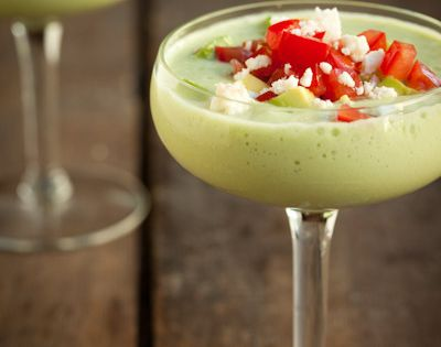 Summer Fest: Creamy Chilled Cucumber and Avocado Soup This soup tastes just
