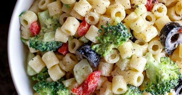 Creamy Cold Summer Pasta Salad Recipe Man Food