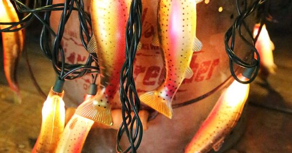 rainbow trout lights! perfect for the campsite! {junk gypsy co}