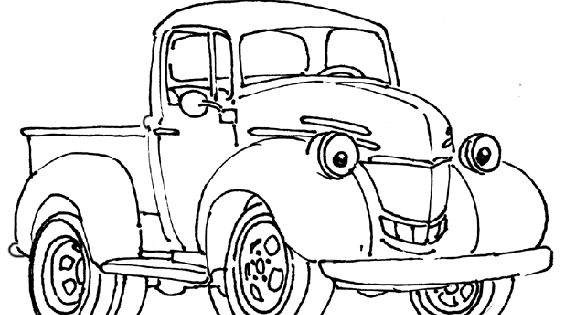 little boy trucks coloring pages | This coloring page is ...