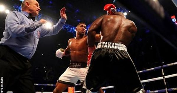 Anthony Joshua Stops Carlos Takam In Round 10 To Defend Ibf And Wba Titles Bbc Sport Anthony Joshua Boxing Anthony Joshua Joshua