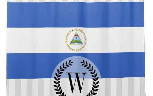 Flag Of Nicaragua Shower Curtain Zazzle Com Custom Shower Curtains Custom Shower Curtains