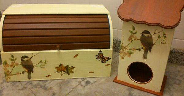 Panera y portabolsas pintado a mano y decoupage cajas - Cajas decoradas a mano ...