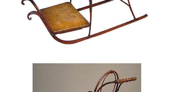 Travail autrichien xix chaise luge en fer forg et bois for Chaise bois et fer forge