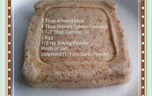 90 Second Low Carb Bread Almond Flour Flax Microwave Mug