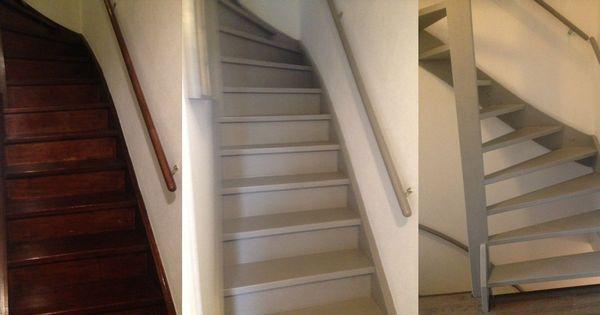 Trap geverfd altijd een lastige klus maar met annie sloan gaat het wel veel en veel beter en - Deco woonkamer met trap ...