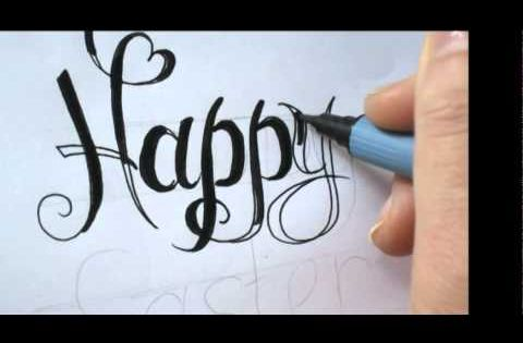 Write Fancy Calligraphy Letters For Cards Youtube