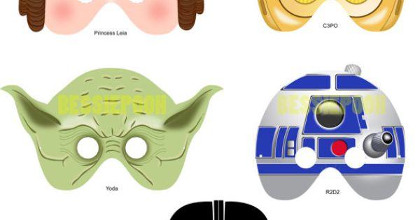 Printable Star Wars Masks. Easy DIY gift for kids.
