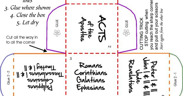New Testament Cube Craft