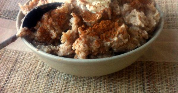 Cinnamon Bun Oatmeal Pudding- Tastes JUST like Cinnabon ...