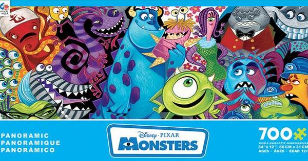 Disney Monsters Inc Movie Puzzle Disney Puzzles Monster Puzzle