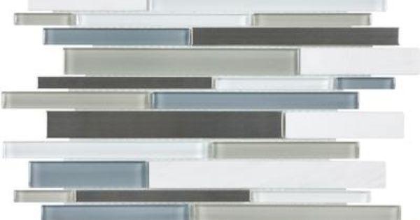 Sassi Carbon Strip Metal Glass Mosaics 94 034 Home
