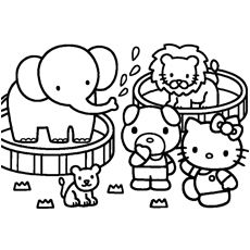 Hello Kitty Helps In Shopping Printable Coloring Pages Hello Kitty Coloring Kitty Coloring Hello Kitty Printables