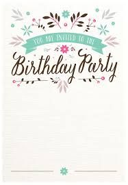 Image Result For Birthday Invitation Template Google Docs