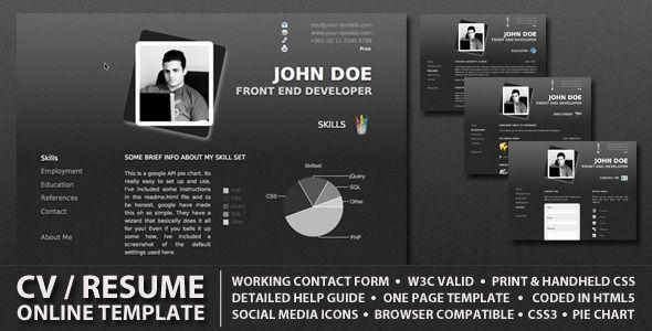 ProCV v11 - Professional Online Resume   CV -    themekeeper - resume site
