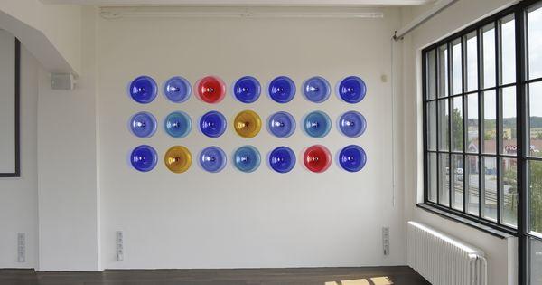 Contemporary Glass Wall Sculpture. Modern Hospitality Wall ...
