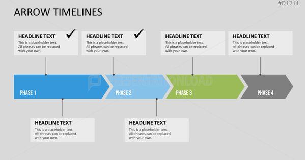 powerpoint timeline pfeile zeitstrahl vorlage