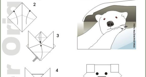 origami polar bear instructions