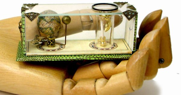 Miniature scientific instruments for the dollhouse library collection : Tellurion moon earth