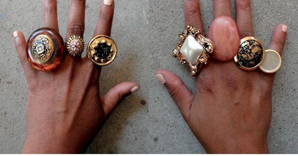 DIY Button Statement Rings. diy rings
