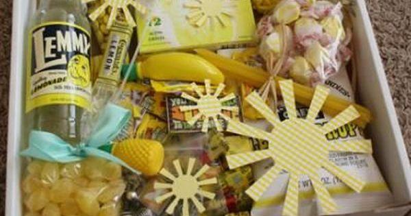 Send a box of sunshine! What a fun idea to brighten someone's