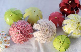 5 boules de Noël en papier faciles à faire soi même | Décorations