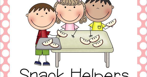 Snack Helper Clipart Classroom Jobs