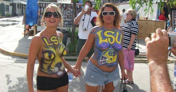 Nice pair of LSU Body Painting   Body Painting   Pinterest ...