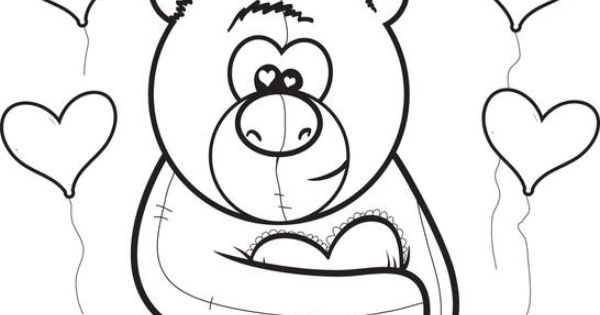 I Love You Teddy Bear Coloring
