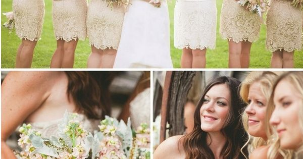 lace bridesmaids dresses. Don't know about the color but the dress itself