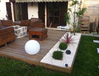 Aménagement d\'une terrasse brasero déco,jardin,extérieur ...