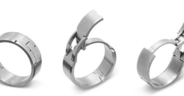 Hinged Titanium Wedding Rings Are A Perfect Fit For Guys