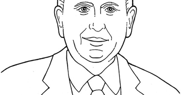 An Illustration Of Our Latter Day Prophet Thomas S S Monson Coloring Page