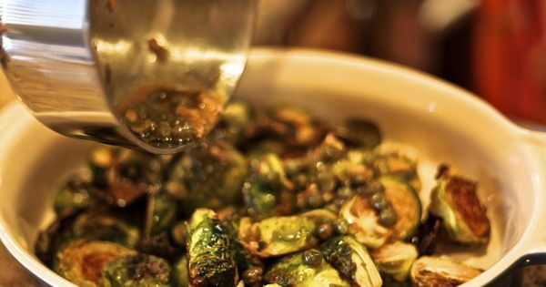 Pour Sauce Over Sprouts And Toss Well Carmelized Brussel Sprouts Cooking Recipes