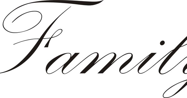 the word family in cursive - Google Search | Food I would ...  the word family...