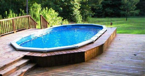 Above ground pools decks idea above ground pool deck for Above ground pool decks with hot tub
