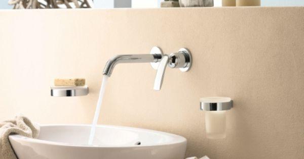 Kludi balance wandmengkraan met s ponter perlator badkamer kranen gespot door uwwoonmagazine - Badkamers bassin italiaanse design ...