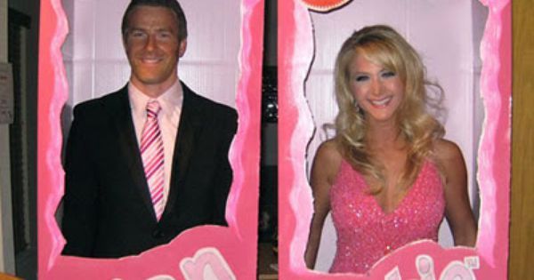 DIY Couples Costumes. Me and sean did barbie and ken last year