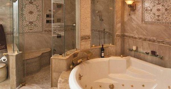 Luxus Badezimmer Design Ideen Eingebaute Wanne Gold Akzente | Hausbau |  Pinterest | Luxus Badezimmer, Badezimmer Design Und Eingebaut