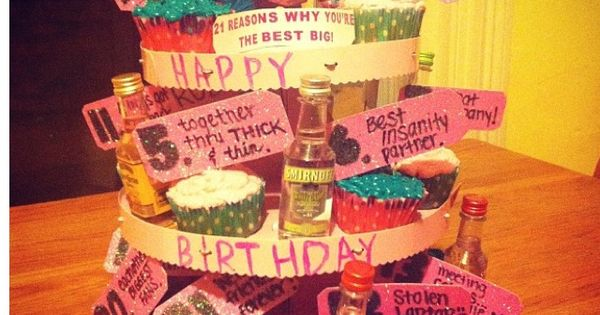 21st Birthday Gift For My Big 21 Reasons Why You Re My