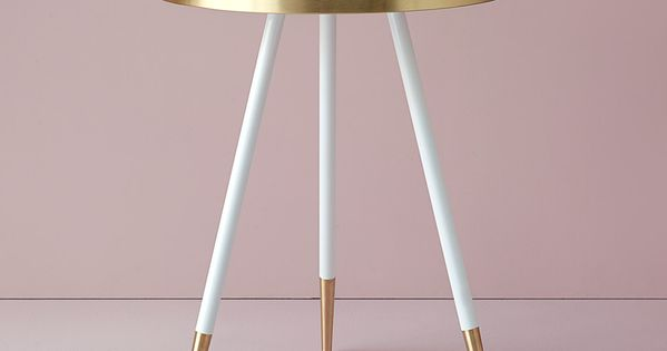 Bethan Gray's marble Band tables are edged in brushed brass  가구, 핑크골드 및 ...